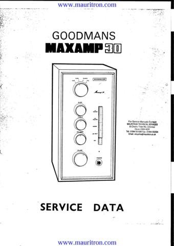 GOODMANS MAXAMP 30 Service Manual with Schematics Circuits