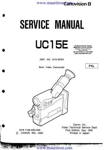 Canon UC15E Service Manual. From Mauritron