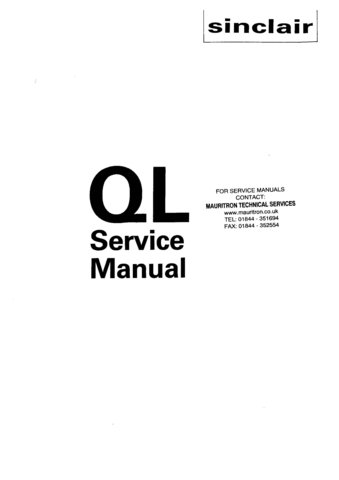 Sinclair QL Service Manual Mauritron#389