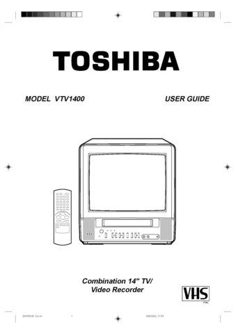 Toshiba VTV1400 Operating Guide Mauritron #2511