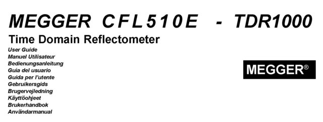 Olman Instruments TDR1000 Instructions. Mauritron #3189