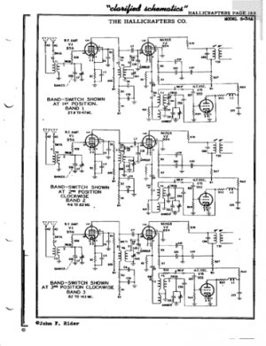 Hallicrafters S36A Schematics etc. Mauritron #3467