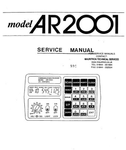 AOR AR2001 Scanner Service Manual