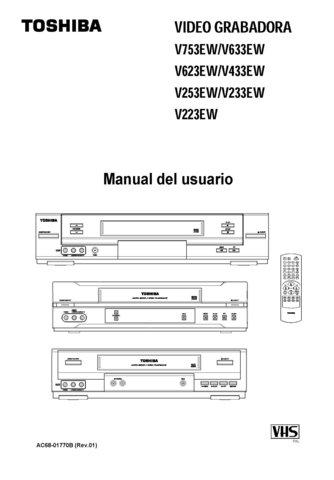Toshiba V623EW V-623EW Video Recorder Operating Guide in