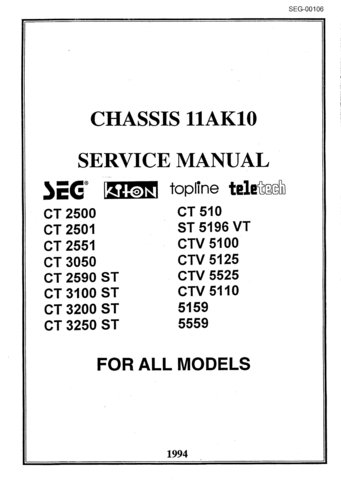 SEG CTV5100 CTV-5100 Service Manual