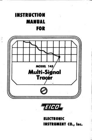 Eico 145 Signal Tracer Instructions Schematics etc