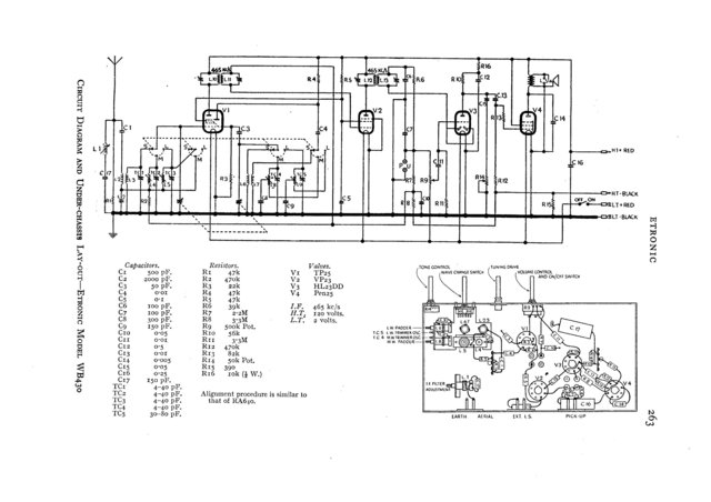 Etronic WB430 (WB-430) Radio Circuit Schematic Diagram Set