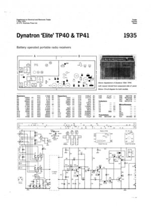 Dynatron Elite TP41 (TP-41) Radio Service Sheet Schematics Set