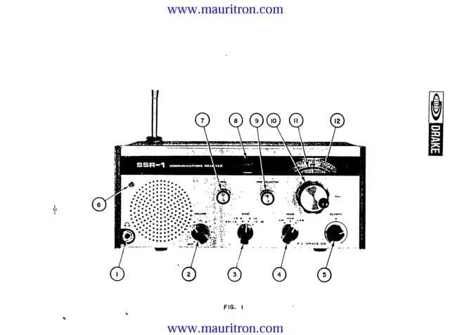 Drake SSR1 (SSR-1) Receiver Instructions Schematics