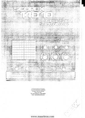 Scopex 14D10 Oscilloscope Instructions Schematics