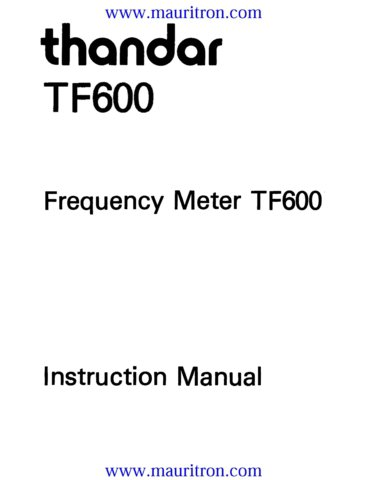 Thurlby Thandar Pl330tp Service Instructions