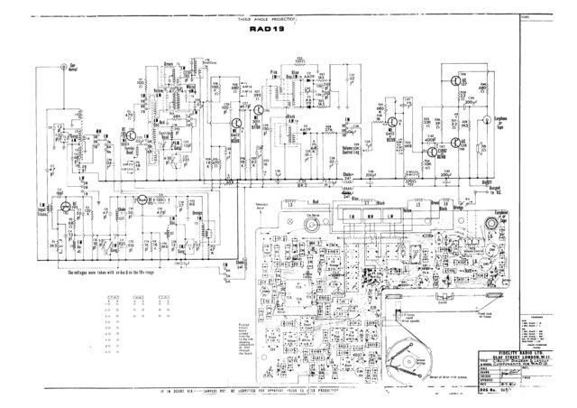 Fidelity RAD19 (RAD-19) Radio Service Sheets Schematics Set