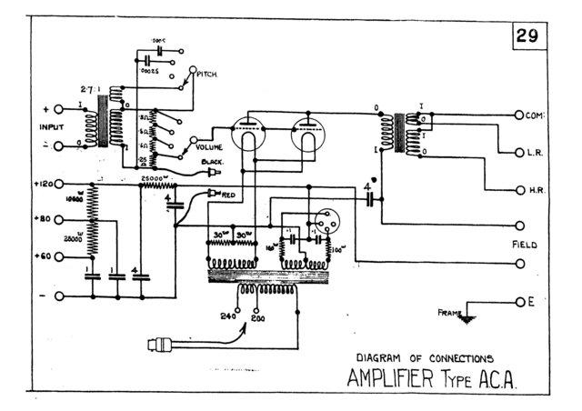 Marconi ACA (AC-A) AMP Circuit Diagram Schematics Set only