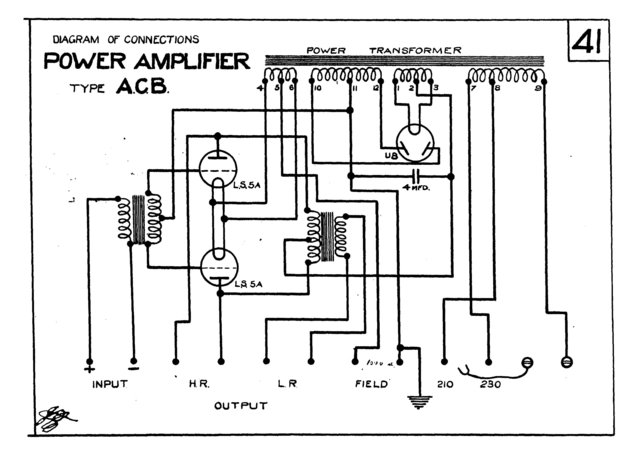 Marconi ACB (AC-B) Power Amplifier Circuit Diagram