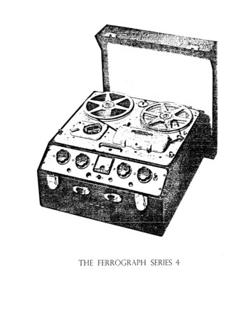 Ferrograph Series 4 Tape Recorder Service Manual