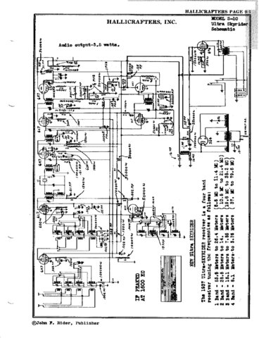 Hallicrafters 512 Commercial Circuit Schematics Diagram