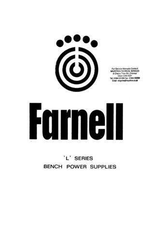 Farnell L30BT (L-30BT) Power Supply Instructions