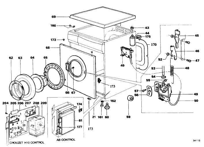 Hoover A1081 (A-1081) Washing Machine Workshop Service Manual