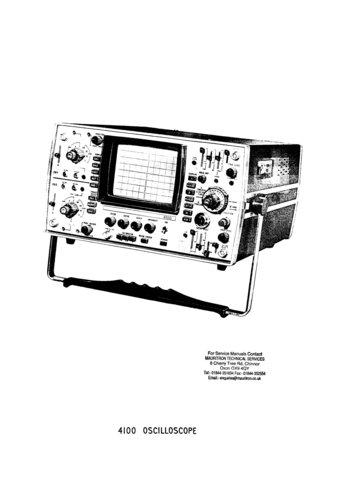 Cossor 4100 Oscilloscope Instructions Schematics Circuits