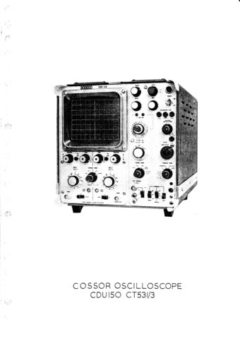 Cossor CDU150 (CDU-150) Oscilloscope Instructions
