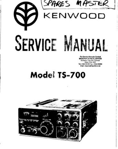 Kenwood TS700 (TS-700) Transceiver Service Manual