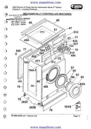 Hoover AAA160 (AAA-160) Washing Machine Service Manual