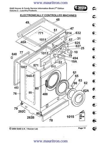 Hoover AM110 (AM-110) Washing Machine Service Manual
