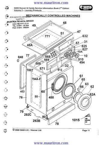 Hoover SE220 (SE-220) Washing Machine Service Manual