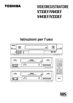 Toshiba V241EW (V-241EW) Video Recorder Service Manual