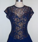 Navy Blue and Gold Dress