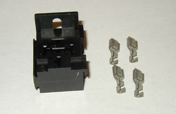 Relay Connector 5 pin Panel Mount terminal socket