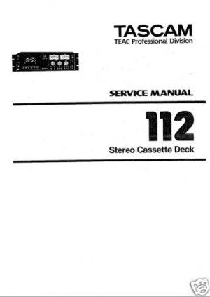 REPAIR / SERVICE MANUAL for TASCAM 112 (MK I)