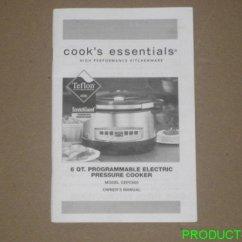 Kitchen Appliances Stores Corner Rug Cook's Essentials Cepc660 6 Qt. Pressure Cooker Owner's ...
