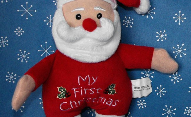 Baby S First Christmas Santa Rattle Stuffed Baby Toy