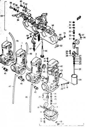 GS550 GS750 GS850 GS1000 NON CV Stainless carb screws