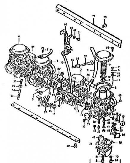 GS550 GS750 GS850 GS1000 CV Stainless carb screws