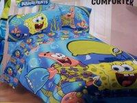 Spongebob Squarepants Pajama Party Twin Comforter & Sheet ...