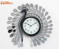 "23"" Peacock Design Iron Wall Clock"