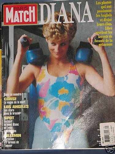 Princess Diana  Paris Match magazine Gym Scandal RARE