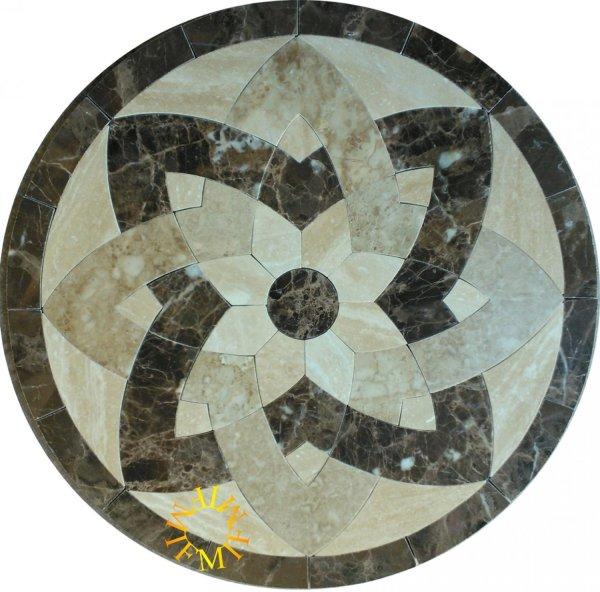 48'' Floor Tile Marble Medallion 2026