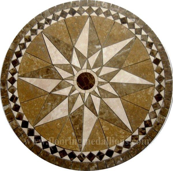 36'' Floor Tile Marble Medallion 2016