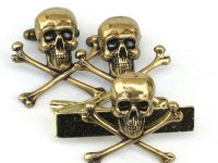 Steampunk SKULL & CROSSBONES Gothic Men Tie Bar Clip and ...