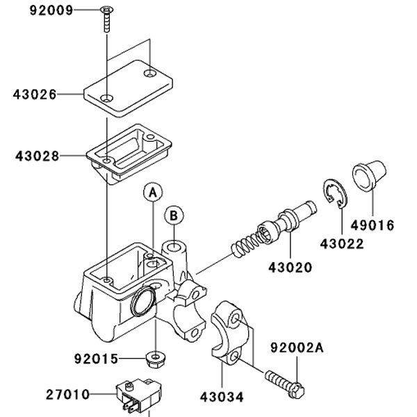 Kawasaki OEM BRAKE DIAPHRAGM Gasket 43028-1061 Ninja 250R