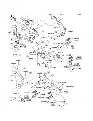 Kawasaki Ninja 650R ER6n ER6f OEM LH Left PIVOT COVER