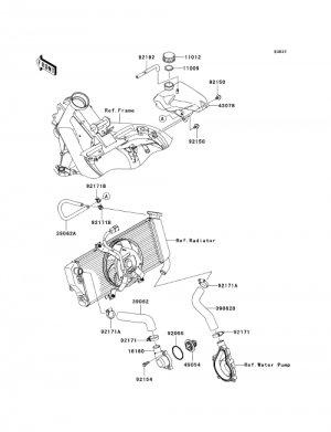 Kawasaki Ninja 650R ER6f EX650 Reservoir Coolant OEM Part