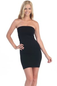 Black Tube Dress Super Soft Form Fitting and Tight made in USA