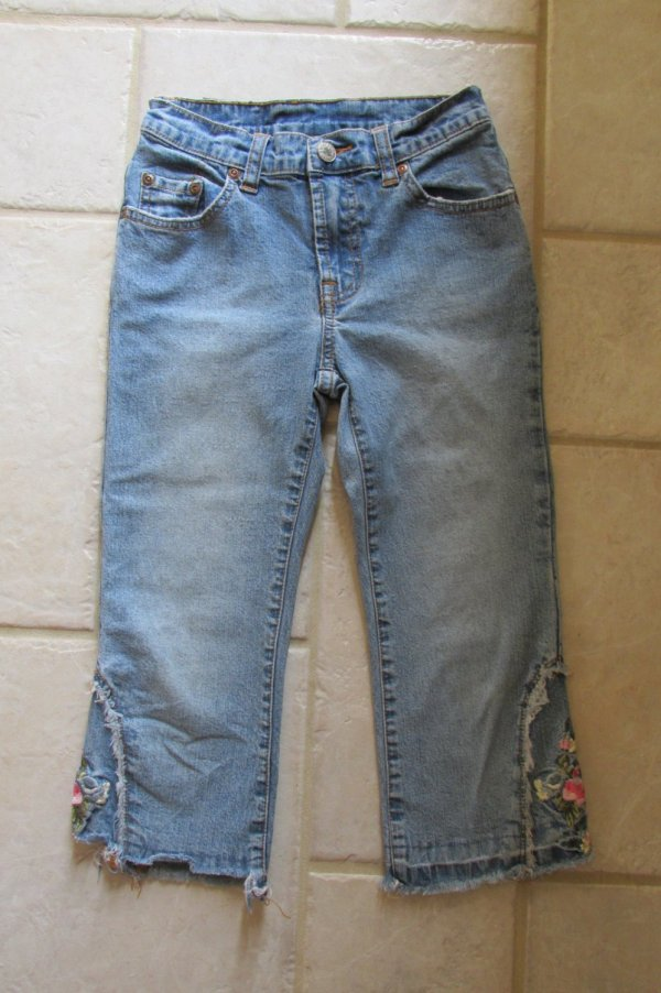 Lucky Brand Girl' Size 8 Capris Denim Cropped Blue Jeans