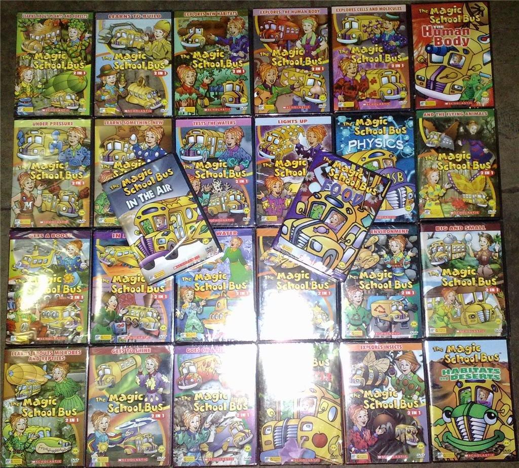 The Magic School Bus Dvd Set Of 26 Titles Scholastic