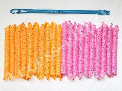 20 extra long wide hair curlers curlformers spiral ringlets magic leverag barrel corkscrew kit