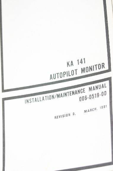 Bendix King KA141 Autopilot Monitor Install/Maintenance